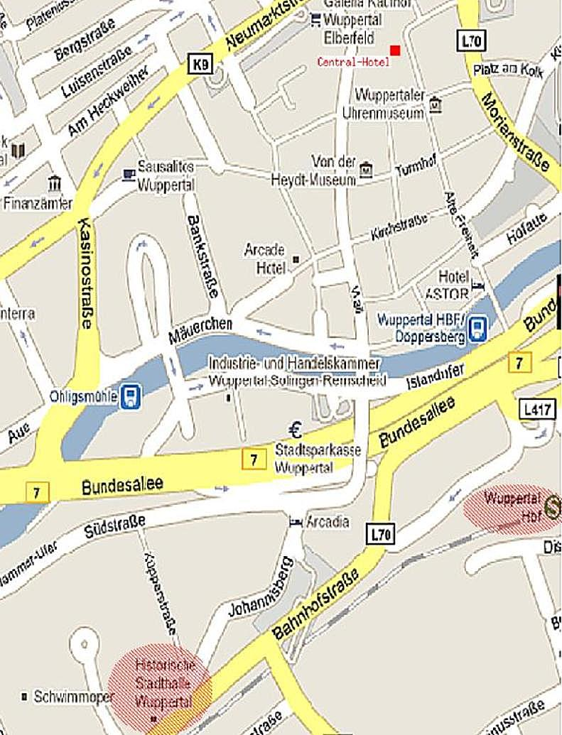 The entire program can be found here a map of wuppertal for Hotel wuppertal elberfeld